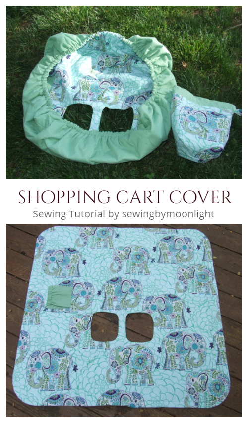 Shopping Cart Cover Pattern : shopping, cover, pattern, Fabric, Shopping, Cover, Sewing, Patterns