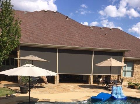 outdoor patio sunroom shades austin
