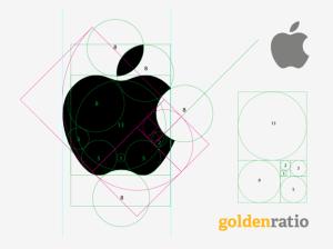Le nombre d'or appliqué pour le logo Apple