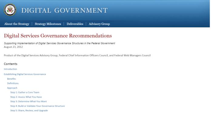 la gouvernance digitale selon la maison blanche