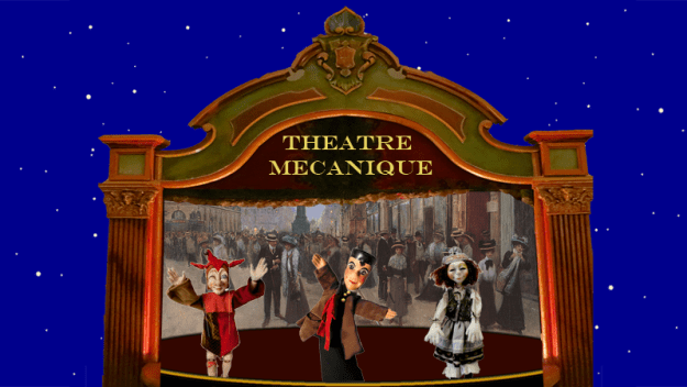 Theatre Mécanique is a proposed interactive storytelling system for recreating a wide range of stories with animated puppets.