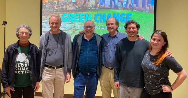 Fabrice and the Green Change Team at the Climate Action 101 Meetup at Good Earth in January 2020.