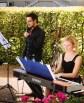 Beim Hochzeitsauftritt, begleitet durch Juliana Pollmann am Klavier.
