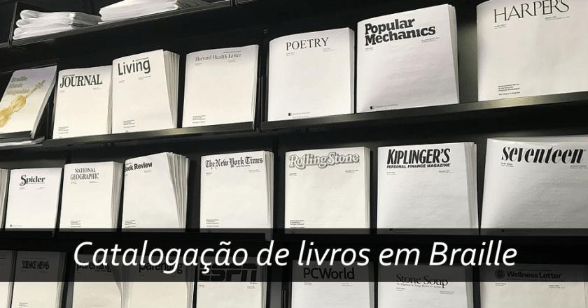 Catalogação de livros em Braille