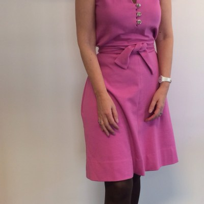 DVF dress in pink