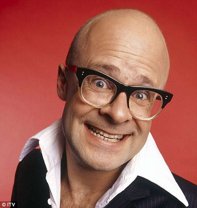 Harry Hill in a big shirt