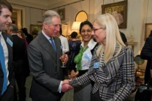 Prince Charles admires the VW jacket