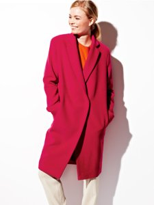 "Pink ""boyfriend"" coat by Burda patterns"