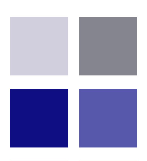 Cool neutral colour palette