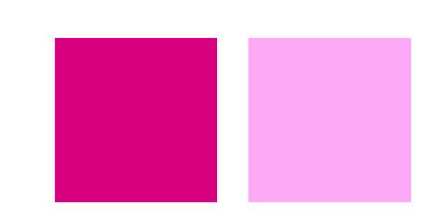 Deep pink v Light pink