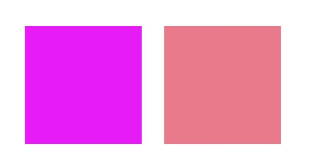 Cool pink v Warm pink