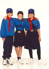 Girl Guide uniforms by Jeff Banks design 1990