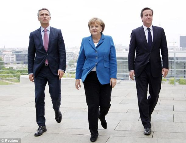 Cameron with German and Norwegian PMs
