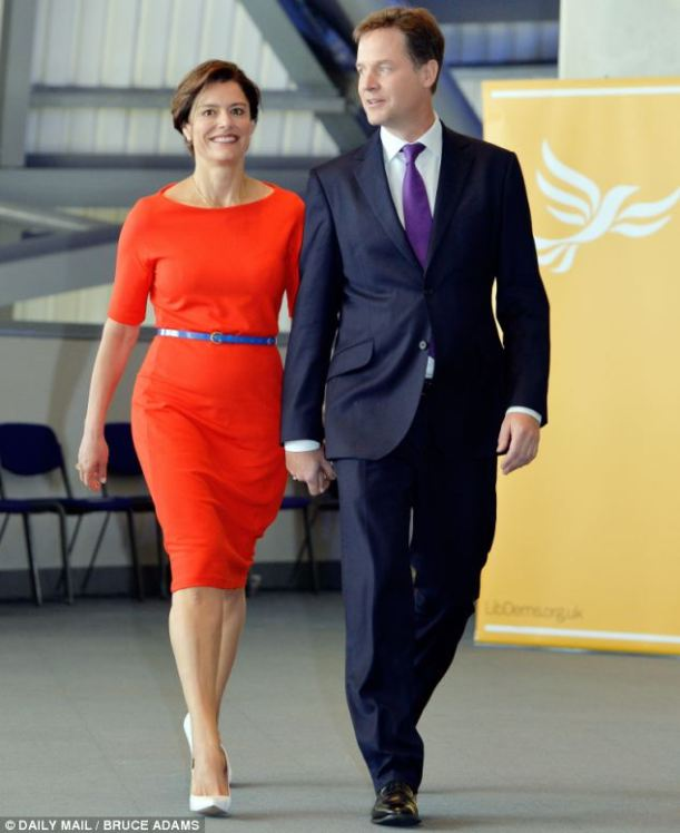 Nick Clegg, Deputy Prime Minister with his wife