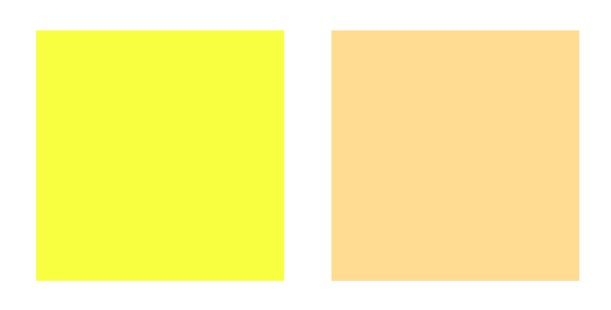 cool and warm yellow swatches