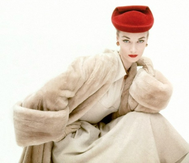 Balenciaga fur coat and hat, 1950s