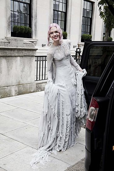 Katie Shillingford in Gareth Pugh wedding dress