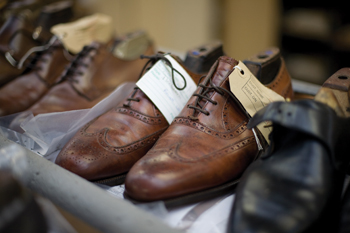 English Brogue shoes Edward Green factory, Northampton. (Ewan)