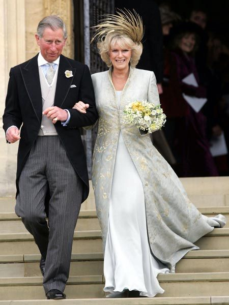 Camilla in wedding outfit