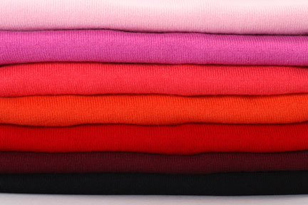 red and pink uniqlo cashmere