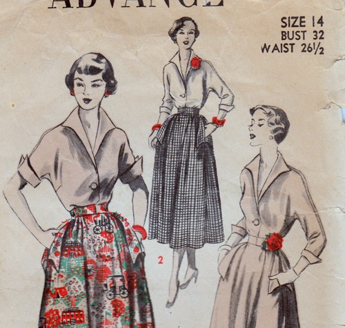 Vintage sewing pattern with Kimono sleeve