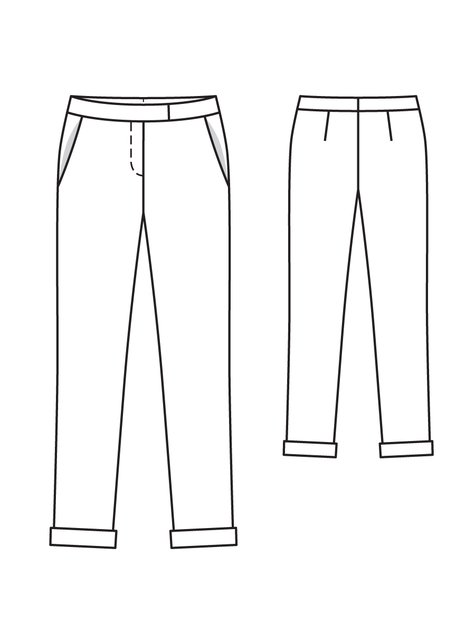Burda 107d - technical drawing