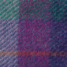 Purple and turquoise Harris tweed