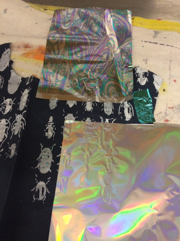 using foils for fabric printing