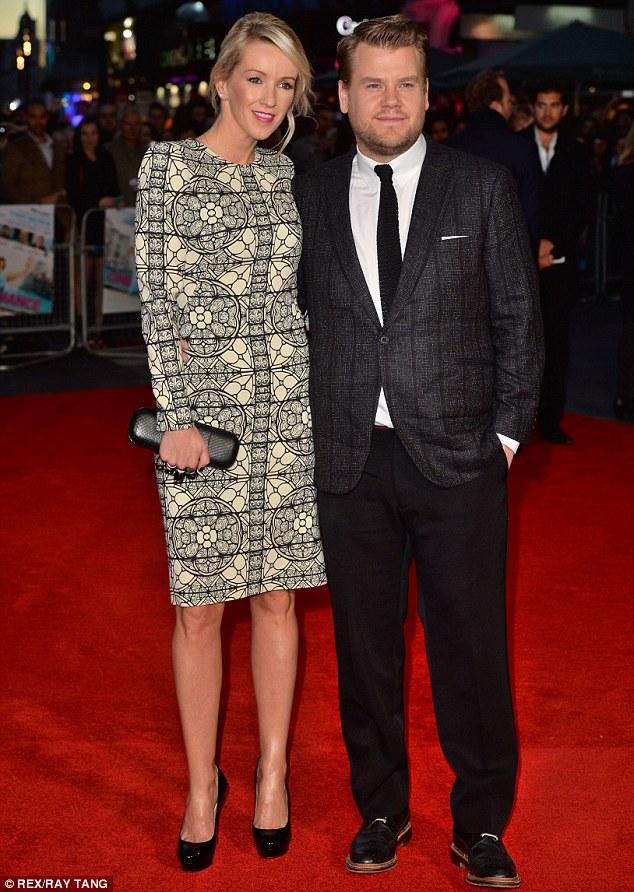 James Corden suit and tie