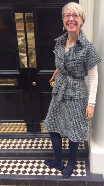 Kimono jacket and wrap round skirt