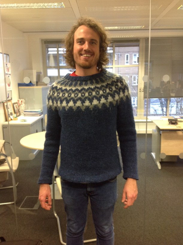 Man in Icelandic sweater