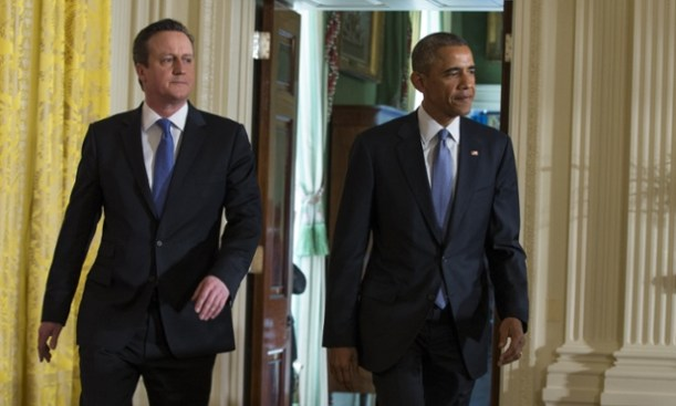 Obama and Cameron (or Barak and David)
