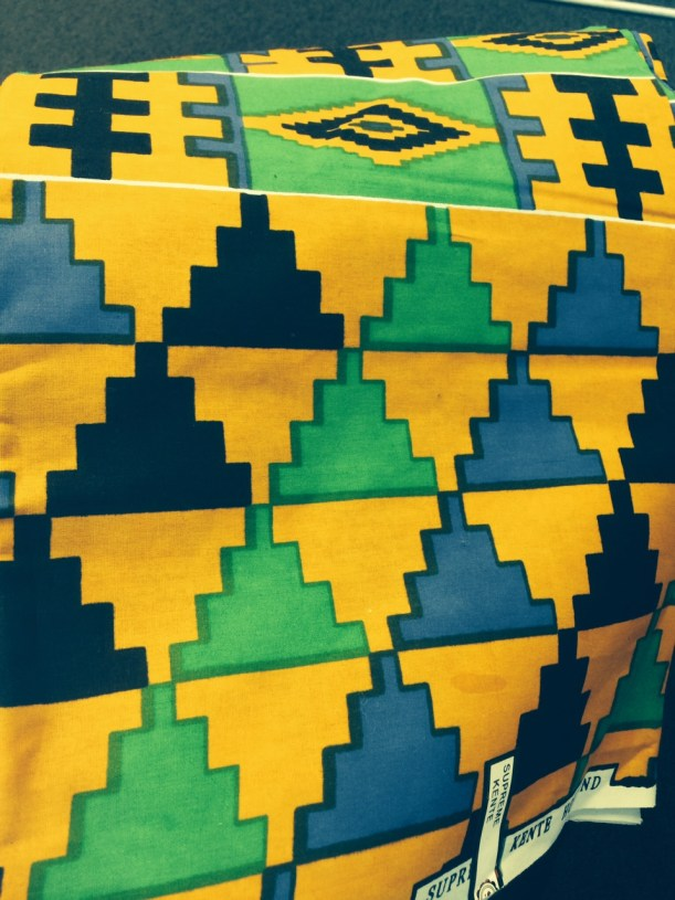 printed kente cloth