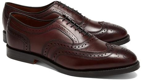 dark brown brogues
