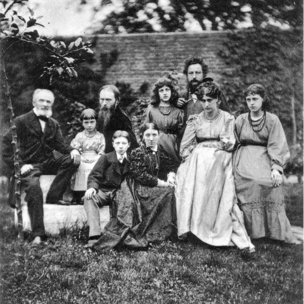 William Morris with family and friends