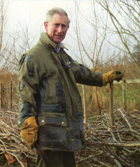 Prince charles in distressed Barbour