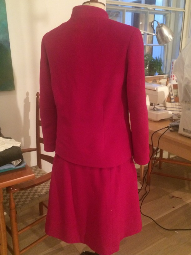 Fuchsia hand made tailored suit