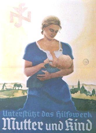 Charming breastfed Nazi