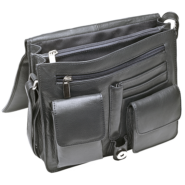 "Leather ""organiser bag"""