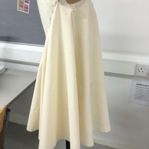 Draped dress (back view)