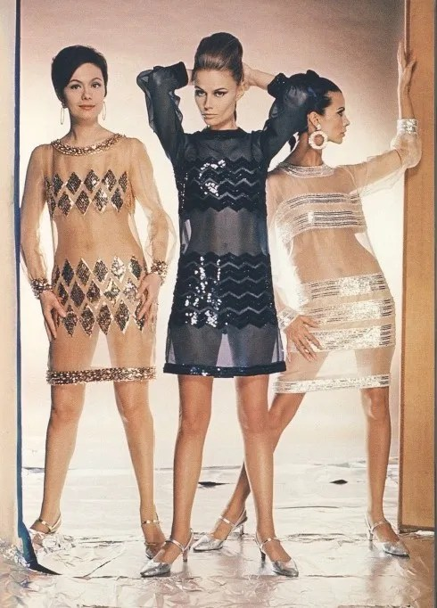 1960s YSL transparent dresses