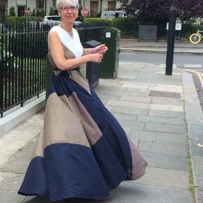 Draped Circle dress