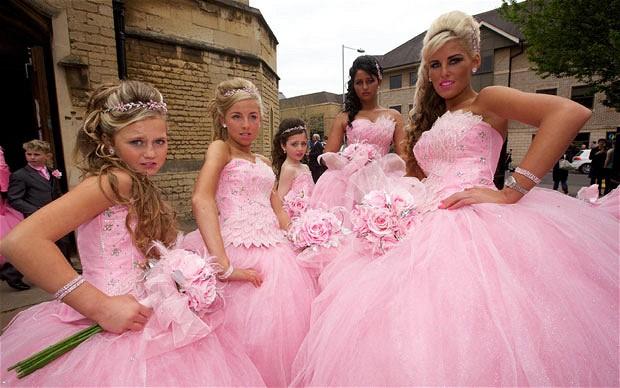 Wedding, with bridesmaids