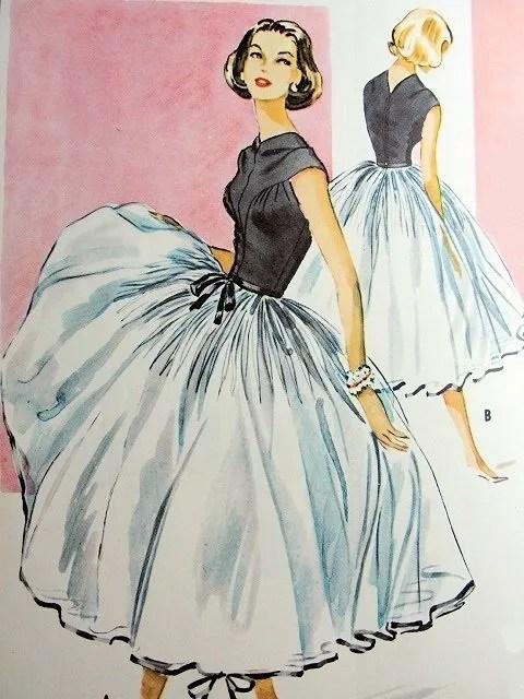 Vintage dressmaking pattern illustration