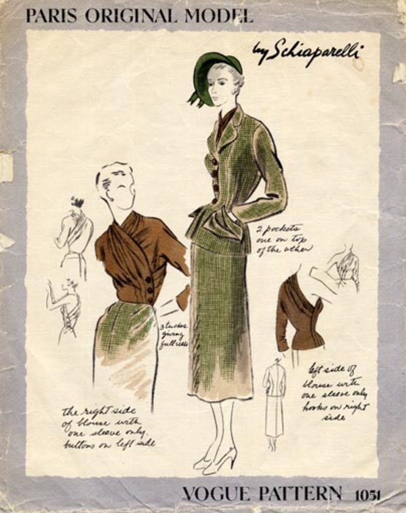 Schiaparelli pattern Vogue 1051