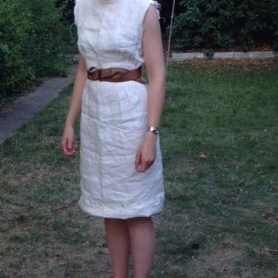 Wip linen dress, with belt