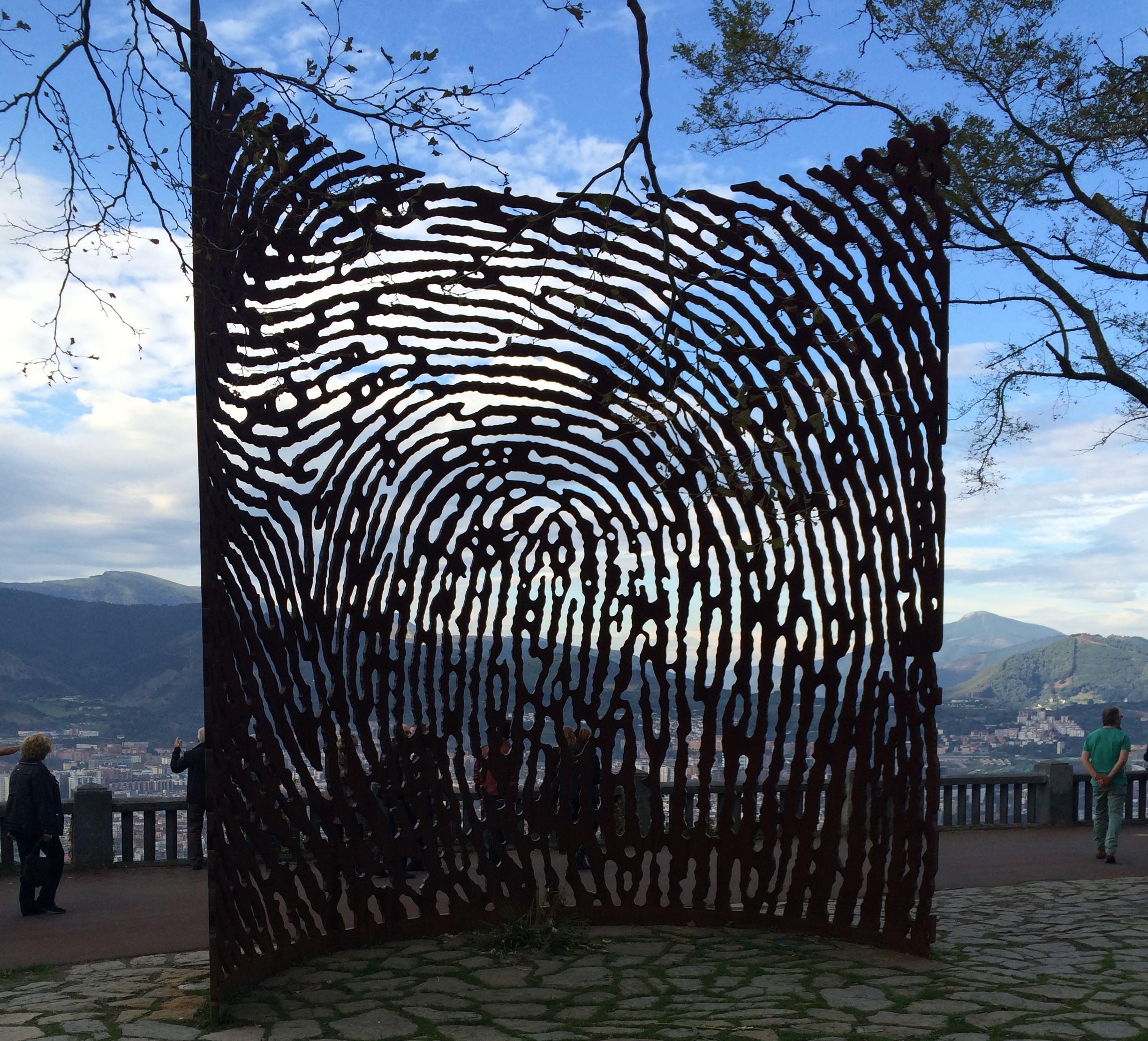 Steel sculpture (with husband)