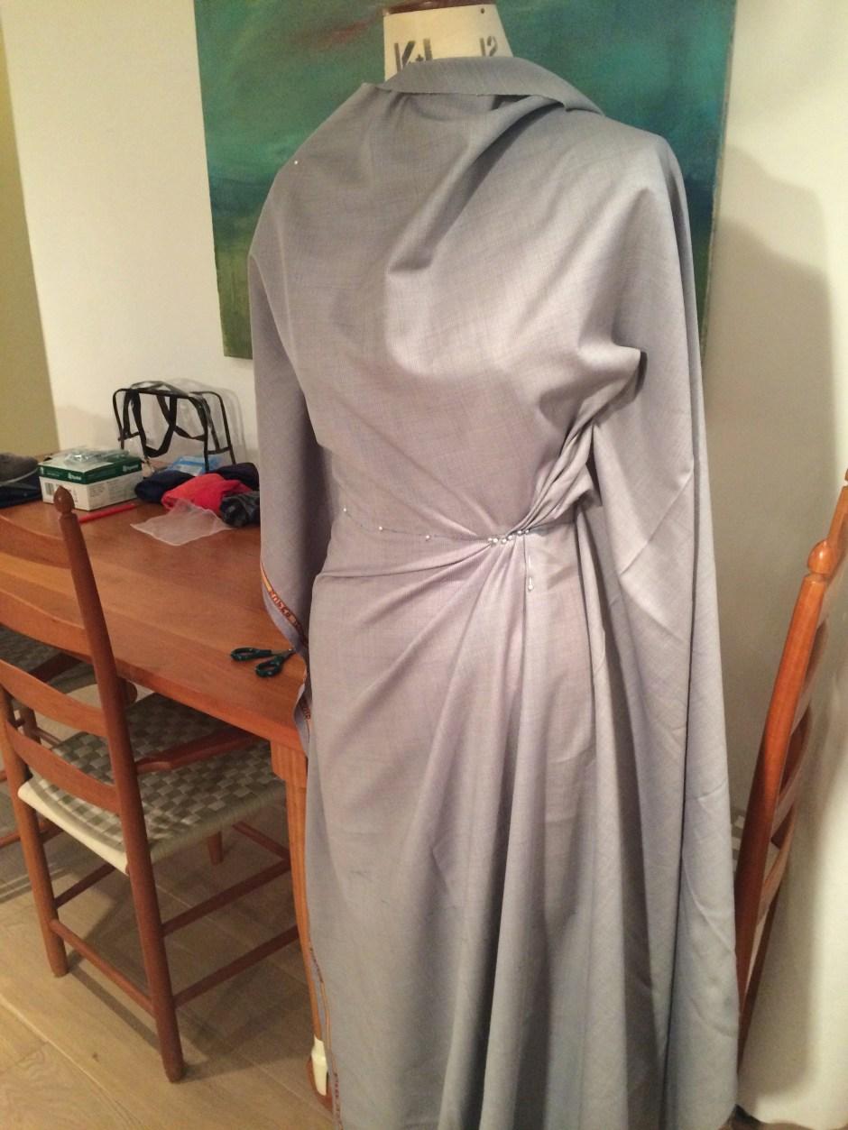 Draped, asymmetric skirt (second attempt)
