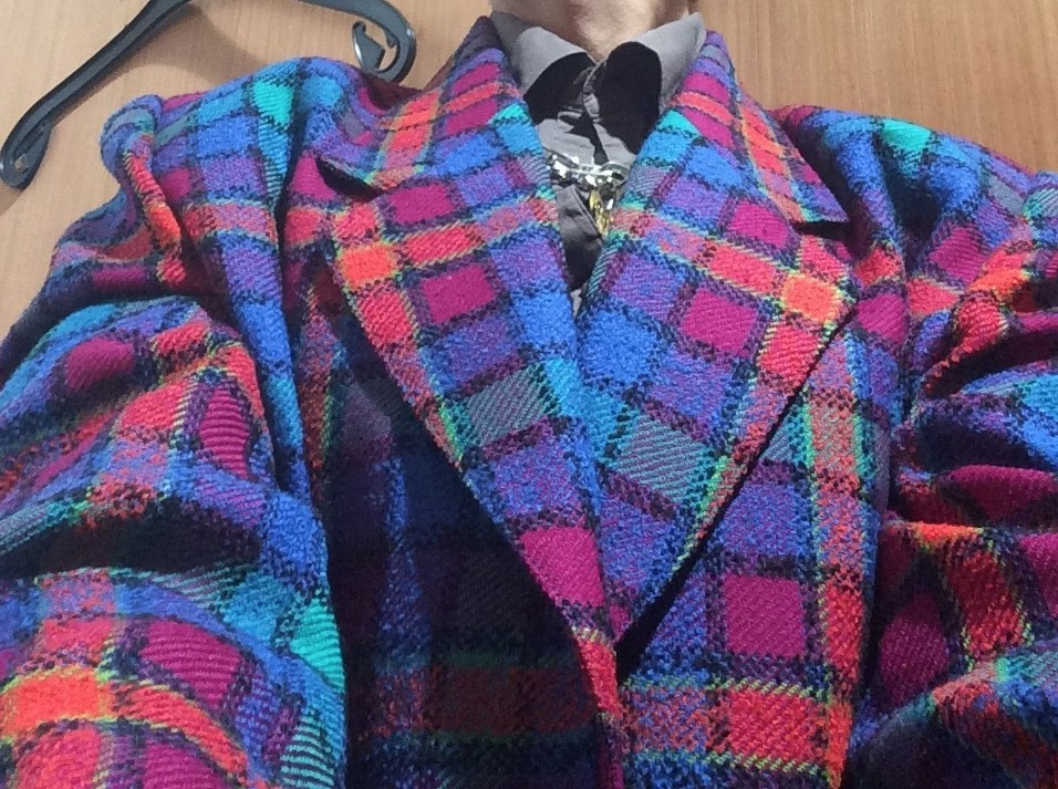 Multi coloured 1980s jacket