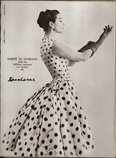 1955 spotted dress